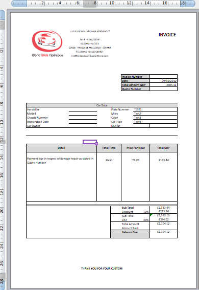 Tailored Quotation and Invoice System | Bespoke Excel