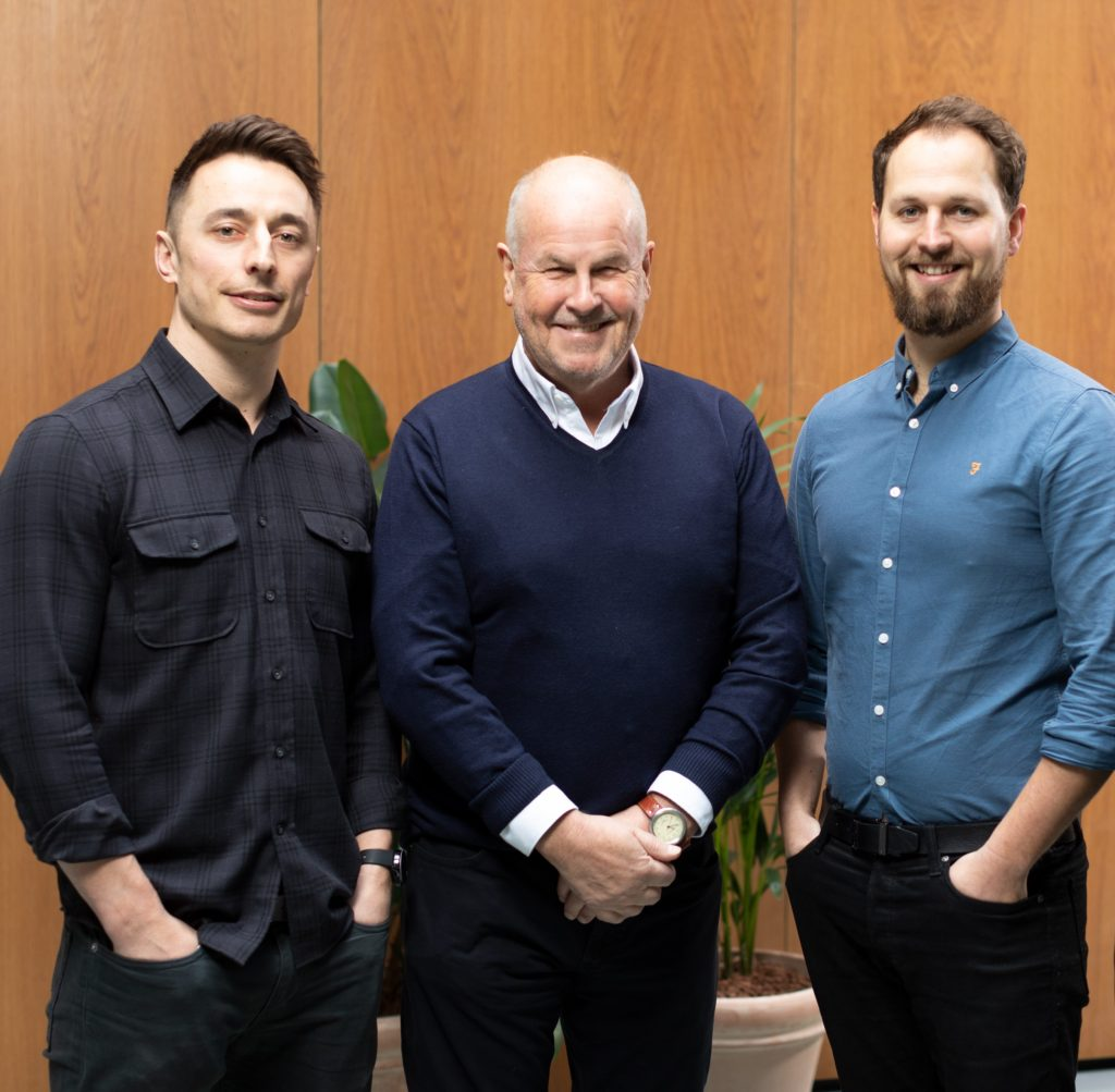 Pictured below from left to right: Jordan Brookes - Commercial Director, Brian Rees and Sam Bright, Managing Director.